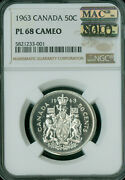 1963 Canada Silver 50 Cents Ngc Pl68 Cameo Pq Mac Solo Finest Grade Spotless .