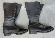 Rare Antique Ww I Ww 1 Lace Up Tall Boots