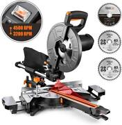 Tacklife 10-inch Sliding Compound Miter Saw 15 Amp Motor With 2 Speed3 Blades.