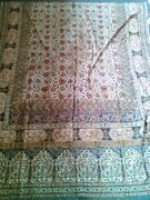 Antique Persian Ghalamkar Linen 60+ Years Old Textile Hand-printed Tablecloth
