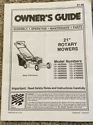 Mtd 21 Rotary Mowers Ownerand039s Guide 121-462r000 To 121-479r000 Used
