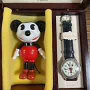 Mickey Mouse Celluloid Doll Amp Watch Set