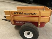 Rare Vintage All Terrain Radio Flyer Trailer With Pneumatic Tires Atw