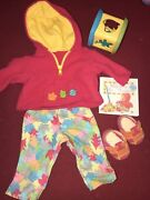 Bitty Baby Fall Leaf Outfit Set Lot Sweatshirt Pants Book Toys Shoes