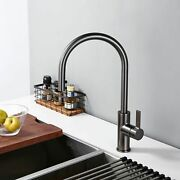 Single Handle Pull Out Kitchen Faucet Brushed Rotation Hot And Cold Water Sink