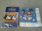 Mickey Mouse Hollywood Gibson Vintage Beverage Napkins And Happy Birthday Candle