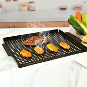 Grill Basket Nonstick Grill Topper With Holes Bbq Grill Tray Vegetable Grill Pan
