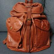 Rrl Leather Backpack From Japan Fedex No.8245