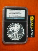2013 W Silver Eagle Ngc Sp70 Enhanced Finish From West Point Set First Releases