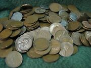 Group Of 500 Lincoln Wheat Pennies Mixed Dates 1909-1958 Unsearched Bag Of 500