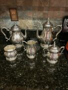 Prelude By International Sterling Silver Coffee And Tea Set Five 5 Pcs C366 80oz