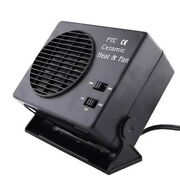 12v Car Portable 2 In 1 Electric Fan And Quick Heater 300w Defroster Demister