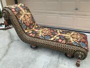 Incredibly Elegant Arabian-style Chaise Lounge By Mackenzie-childs