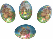 Easter Eggs With Design Large Fillable Plastic Bunnies Lamb 4 Available New