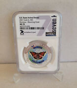 2021 Cook Islands Silver 1oz 999 Ngc Ms70 7k Label 5 Montana Mourning Cloak