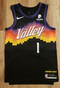 Devin Booker Pro Cut Authentic The Valley City Edition Phoenix Suns Jersey S 🔥