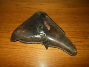 Wwi German Army - Luger P.08 Parabellum Leather Hard Shell Holster - Unit Marked
