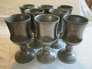 Vintage Wilton Armentale 7 Inch Water Goblet Set Of 8 Stamped Columbia Pa 1979