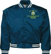 Naval Weapons Station Seal Beach Ca Navy Embroidered 2-sided Satin Jacket