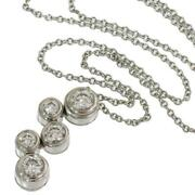 And Co. D6359 Bubble 5p Diamond Necklace Pt950 Free Shipping No.3638