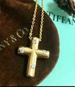 And Co. Diamond Dotz Cross Necklace Gold Free Shipping No.3835