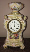 Rare 19th Century German Kpm Old Berlin Mantle Clock In The Rococo Style