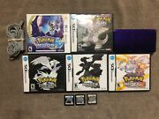 Nintendo Ds Games Lot Pokemon Soul Silver Platinum Pearl Black 1 And 2 White 1 And 2