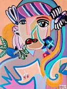 Cubism Painting Art Collectible Canvas Modern Contemporary Home Woman Decoration
