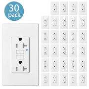 30pcs 20a Amp Gfci Gfi Safety Outlet Receptacle Tamper Resistant Wr W/wall Plate