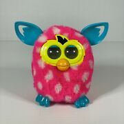 2012 Hasbro Furby Boom Polka Dot Pink And White Fur - Tested And Works