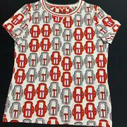 Hermes Tshirt Sewn Buckle Pattern Redwhite Gray Sold Out 38 No.7253