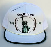 Our Heritage 1886-1986 Statue Of Liberty Trucker Baseball Cap Hat Adjustable