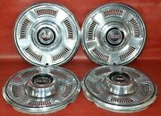 1967 Chevrolet Chevy Chevelle Ss Hubcaps 14 Wheel Cover Hub Cap Used 67and039 Set
