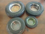 Vintage Rubber Tire Ashtray Lot Kelly Springfield Goodyear Seiberling General