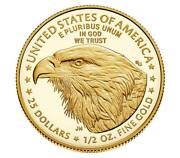 In Hand 2021-w American Eagle Type 2 Gold Proof One Half 1/2 Oz Ships Next Day
