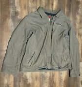 Vintage Old Navy Mens Gray Brown Fall Winter Full Zip Cargo Jacket Size Xxl
