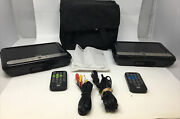 Rca Drc6296 Dual Mobile Dvd Players 9 Lcd Screens W/ Case And 2 Remotes