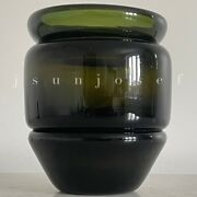 Mid Century 1970s Architectural Art Glass Vase By Chihuly Student Jeffrey Beers