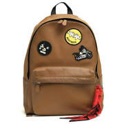 Coach F59313 Charles Backpack In Patchwork Leather With Mickey No.1244