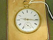 18k Gold Arnold Adams And Co. London Pocket Watch In Original Box - Provenance