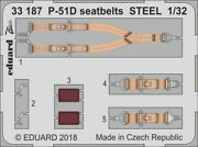 Eduard Zoom 33187 1/32 North-american P-51d Mustang Seatbelts Steel Revell