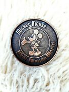 Walt Disney Mickey Mouse Coaster Metal Copper Tone Collectible Made In Canada