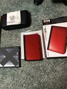 3ds Ll Body Red X Black Case And Other Sets