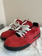 Nike Sb P-rod 3 Paul Rodriguez Sport Red Suede Size 11 Vintage Rare Skate Shoes