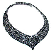 Magnificent Jewel Authentic Sapphire .925 Sterling Silver Handcrafted Necklace