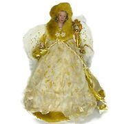 Angel Ethnic Christmas Tree Topper Vintage Victorian Feather Wings Fancy Ivory