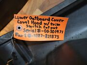 Lower Outboard Cover Cowl Hood With Trim Switch Included Part 2187-821873