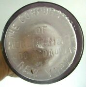 1880s Antique Hegeman And Co Chemist Bottle Lightly Amethyst 200 Broadway Ny