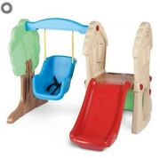 Little Tikes Brand Tree Slide And Swing Set With Baby Swing Swingset With Slide