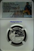 2021 S Ngc Proof 69 Ucam Silver Washington Crossing Atb Quarter ☆☆ First Release
